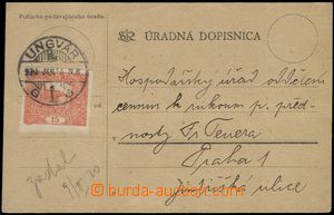 66192 - 1920 úřední dopisnice ve slovenské mutaci (antikva) pro