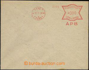 66224 - 1939 bianko obálka s OVS PRAG 1/ PRAHA 1/ APB, anulát, pě