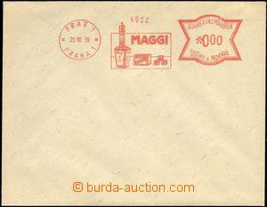 66233 - 1939 bianko obálka s OVS PRAG 1/ PRAHA 1/ MAGGI + kresba, a