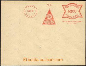 66235 - 1939 bianko obálka s OVS PRAG 1/ PRAHA 1/ EXCELSIOR PRUNES,
