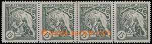 66254 -  Pof.27B, horizontal strip of 4, on/for 2.známce from the L