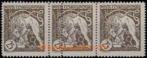 66255 -  Pof.28B, horizontal strip of 3, on/for middle stamp other v