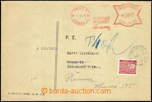 66277 - 1940 commercial letter with meter stmp PRAG 1 * PRAGUE 1/ EL