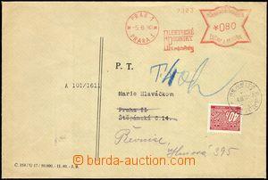 66277 - 1940 firemní dopis s OVS PRAG 1 * PRAHA 1/ ELEKTRICKÉ PODNIK