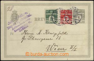 66290 - 1914 PC Mi.P34 with uprated with stamp 5+2 ǾRE, CDS Ode