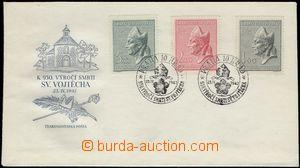 66296 - 1947 ministerská FDC se známkami Pof.450-452 (Sv. Vojtěch