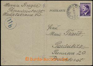 66301 - 1944 KT TEREZÍN, předtištěná dopisnice s poděkováním