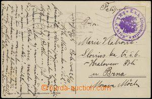 66313 - 1914 S.M.S. CYKLOP, round violet postmark with eagle, light