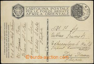 66319 - 1936 ITALIAN OCCUPATION  card Italian FP sent from Addis Abe