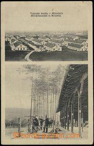 66320 - 1914 Milovice, vojenský tábor a střelnice, čb 2-okénkov