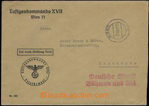 66326 - 1940 dopis přepravený z Vídně do Pardubic prostřednictv