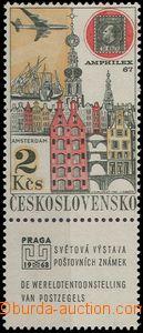66364 - 1967 Pof.KL61xb, Praga 1968, optically cleared paper, mint n