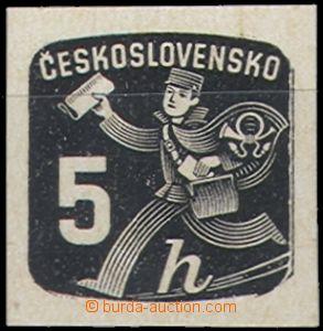 66370 - 1945 Pof.NV23 ZT, 5h novinová, zkusmý tisk v černé barv�