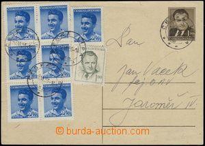 66380 - 1953 CDV109 s dofrankováním známek za 15Kčs (celkem 16,50Kčs