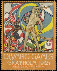 66382 - 1912 Olympijské hry Stockholm, propagační nálepka