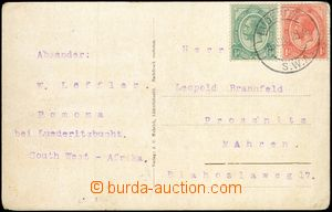 66383 - 1921 postcard with Mi.2+3, CDS Luderitz/ SWA/ 6.JUL.21, sent