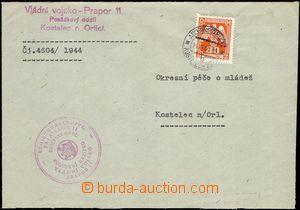 66386 - 1944 dopis zaslaný v místě od Vládního vojska - Prapor