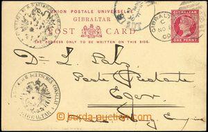 66396 - 1900 dopisnice Mi.P22, zaslaná poste restante do Chebu, raz