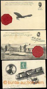66446 - 1910-15 sestava 5ks pohlednic, aviatici Aubrun, Camermann, G