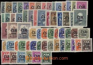 66478 - 1945 Moravské Budějovice, sestava 62ks protektorátních známe