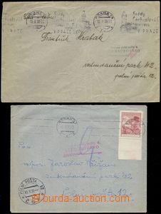 66491 - 1938 2x dopis na PP 12, oba cenzurované na Třídírně PP