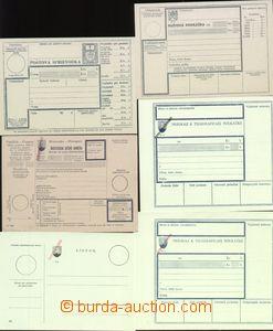 66493 - 1945 sestava 10ks poštovních formulářů, 8ks s ručním