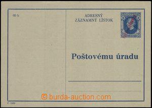 66524 - 1945 CAZ2, Hlinka with hand-made red overprint, good quality