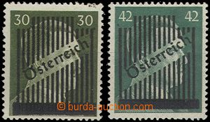 66548 - 1945 Mi.672/II. + 673/I. overprint, nice, without certificat