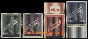 66550 - 1945 Mi.9-12 unissued stmp with overprint, perf 14, 2x with