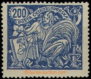 66571 -  Pof.174B/III.typ, 200h modrá HZ, označeno, vlast. zn., zk
