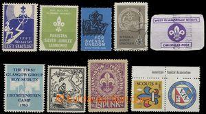 66578 - 1949-1976 9ks propagačních nálepek z různých států (n
