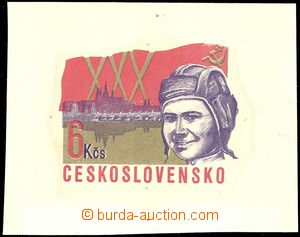 66736 - 1975 PLATE PROOF 6Kčs stamp. from COB44, SOCFILEX 1975, ori