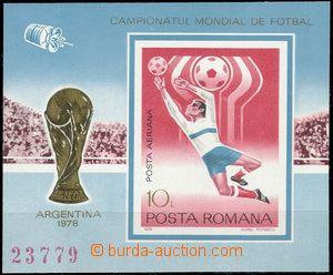 66850 - 1978 Mi.3513 (Block 150) Fotbal, pěkné, kat. 60€