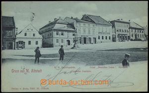 67087 - 1900 Staré Město (Mähr Altstadt.) - children in the squar