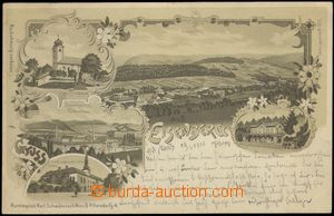 67125 - 1900 Ruda n./M. (Eisenberg) - lithography, paper-mill, railw