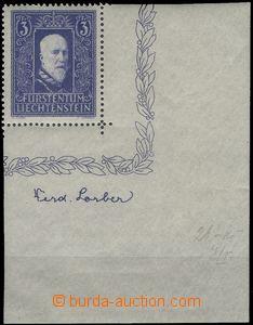 67134 - 1933 Mi.141, prince Franz I., the bottom corner piece with w