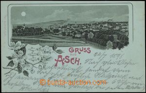 67144 - 1898 Aš (Asch) - lithography, green shade; long address, Us