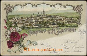 67154 - 1899 Klatovy (Klattau) - lithography; long address, Us, bump