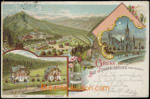 67155 - 1900 JÁNSKÉ KOUPELE (Bad Johannisbrunn) - litografická ko