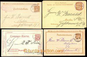 67158 - 1886-99 sestava 4ks privátních celin, 3x Packetfahrtkarte