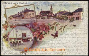 67161 - 1900 HULÍN (Hullein) - 3-záběrová koláž, nádraží, r