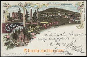 67165 - 1898 ČESKÉ ŽLEBY (Bohemian Röhren) - lithography; long a