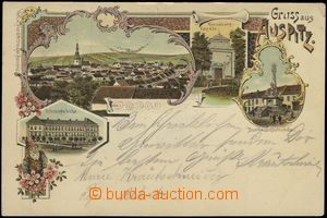 67172 - 1899 Hustopeče (Auspitz) - lithography; long address, Us, b