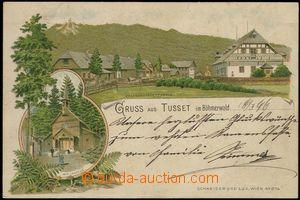 67180 - 1896 Stožec (Tusset) - lithography, chapel; long address, U