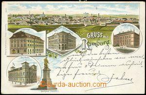 67188 - 1895 RUMBURK (Rumburg) - litografická koláž; DA, prošlá