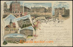 67190 - 1898 Rumburk (Rumburg) - lithography, railway-station; long