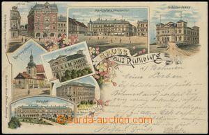 67190 - 1898 Rumburk (Rumburg) - litografická koláž, nádraží;