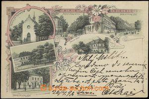 67191 - 1898 Roztoky - litografická koláž, nádraží; DA, prošl
