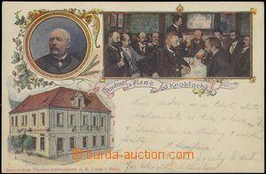 67192 - 1900 Plzeň - restaurace U Knoblochů, koláž; DA, neprošl