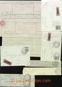 67218 - 1929-33 sestava 9ks celistvostí s podacími razítky Podkar
